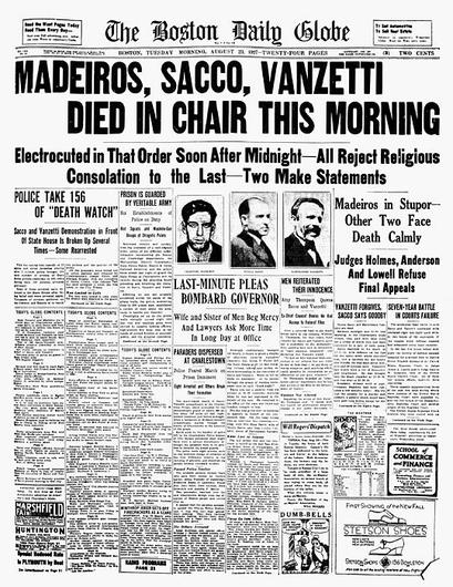 a history of the sacco vanzetti trial Umkc's law school has a wonderful presentation on the sacco and vanzetti case here here's their summary of the red scare: (.